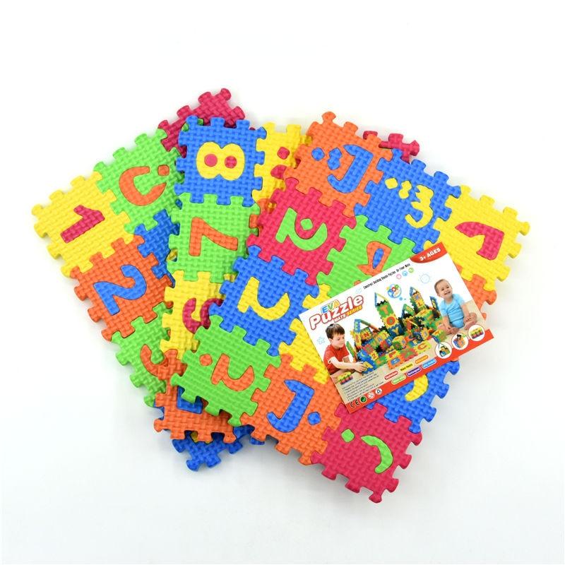 36 шт/партия экологически арабский алфавит арабские Язык EVA пены головоломки для детей животных играть детские 5,5 см