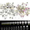 Mix shiny design Crystal and AB colorfuls Micro Crystal Diamond Flatback Rhinestones Nail Art Glass Decorations Accessories tips