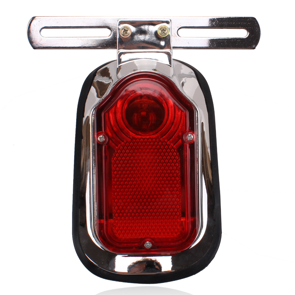 For Motorcycle Harley Chopper Bike Cross Rear Tail Brake License Plate Led Light Automobiles & Motorcycles Electric Vehicle Parts