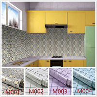 Wall Sticker Kitchen Mosaic Tile Stickers Bathroom Waterproof Self Adhesive With Glue Wallpaper For Walls Decal