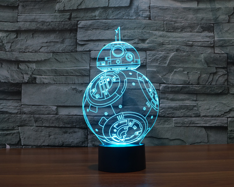 2017 BB 8  Jedi Star Wars Millennium Falcon Model  Action Figures Darth Vader Mask 3D Table Lamp Led Toys Master Yoda star wars bb8 droid 3d bulbing light toys 2016 new 7 color changing visual illusion led lamp darth vader millennium falcon toy
