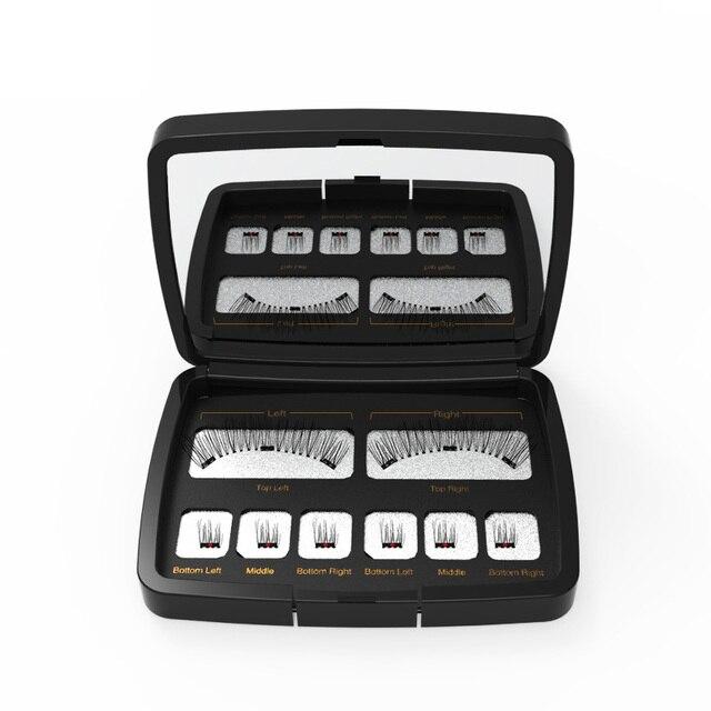Genailish 8pc 3D Magnetic Eyelashes with Mirror Acrylic Box False Eyelashes Tweezer Makeup Magnetic Eye Lashes Extension SCT-602 4