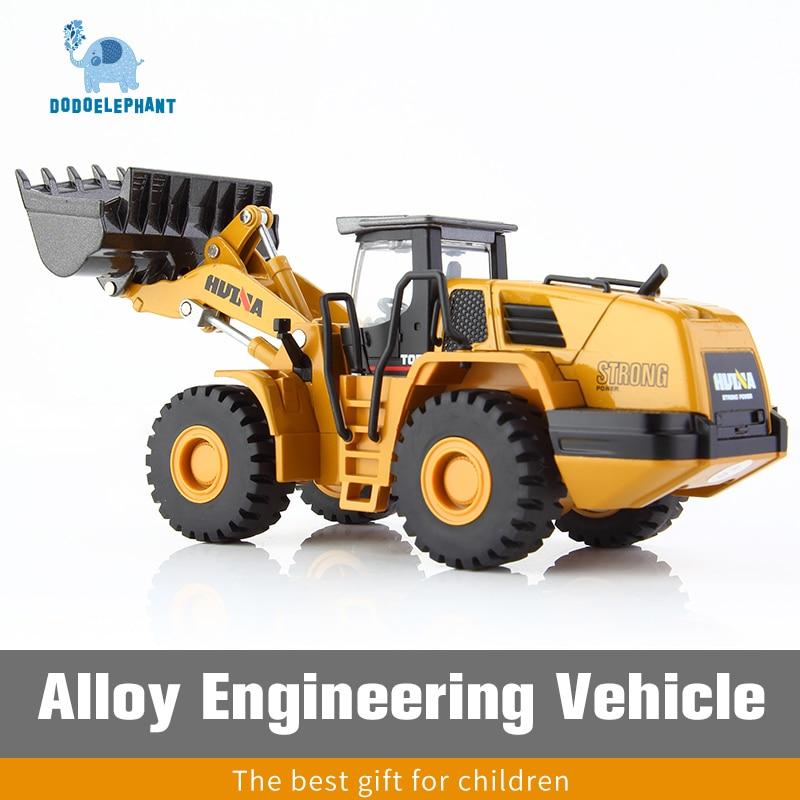 Dodoelephant 1:50 liga mecânica carregador carro escavadeira modelo diecasts carro engenharia veículo brinquedos para meninos crianças