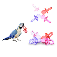 4 Pcs Colorful 5.8 * 3 cm Pet   Bird   Toy   Supplies   Parrot and other Animals Acrylic DIY Accessories Pacifier Toy with Random Colors