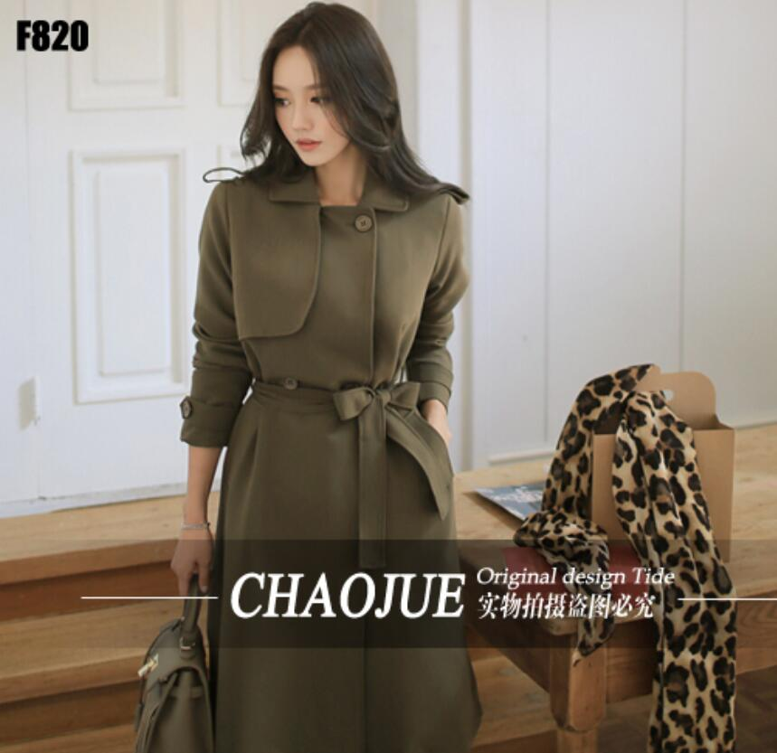 ᐅ2016 Spring Autumn Women S Loose Casual Lace Up Trench Coat Korean