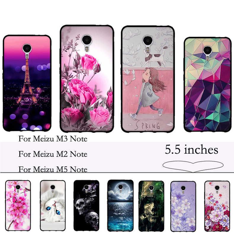 3D malowane na Meizu M3 uwaga/MeiBlue urok uwaga 3 uwaga 5 skrzynki pokrywa miękka TPU silikonowa obudowa telefonu dla Meizu M2 uwaga okładka Fundas
