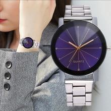 4a7e74c5db00 Ocio de diamantes de lujo de las mujeres relojes de acero inoxidable correa  de banda creativa
