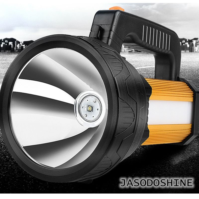High powerfull LED usb rechargeable Portable Spotlight lantern camping searchlight for fising hunting high power portable spotlight lantern searchlight rechargeable waterproof hunting spotlight built in battery