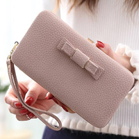 Korean Version Of Women S Long Section Wallet Women S Cute Bowknot Student Large Capacity Mobile