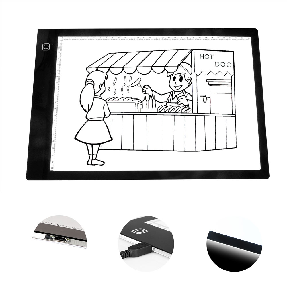 New Portable A4 LED Tracing Light Box Drawing Light Pad for Sketching Animation Stenciling X-ray Viewing EM88 dental x ray film illuminator light box x ray viewer light panel free shipping