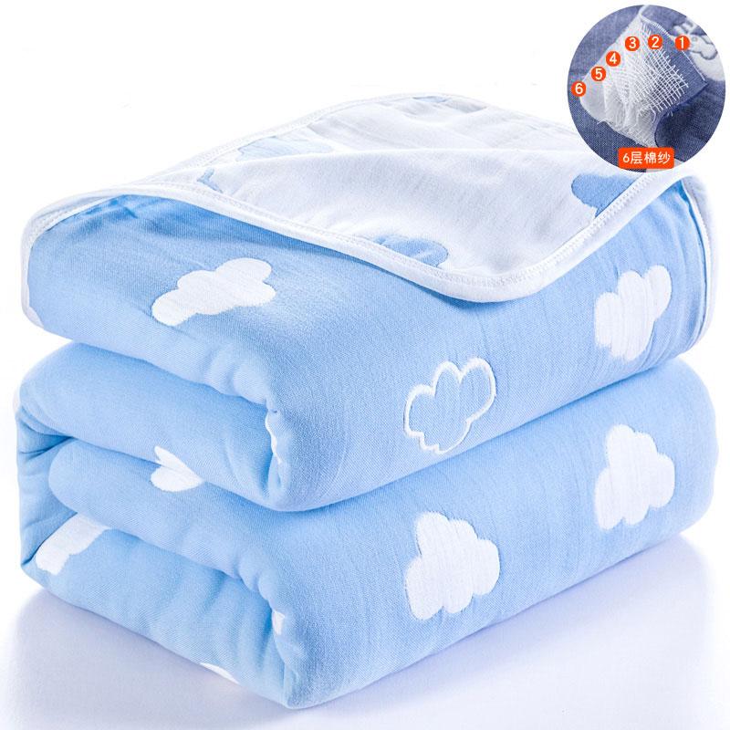 Couverture bébé coton 120*150 mousseline 6 couches nouveau-né emmaillotage automne bébé chaîne Swaddle couverture infantile literie réception couverture