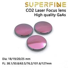 """Superfijne GaAs Focus Lens Dia. 18 19 20 25mm FL 50.8 63.5 101.6mm 1.5 4 """"voor CO2 lasersnijden graveermachine"""