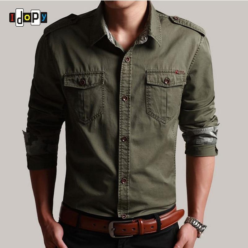Casual Mens Pilot Shirt Short Sleeve Patchwork Pocket ...