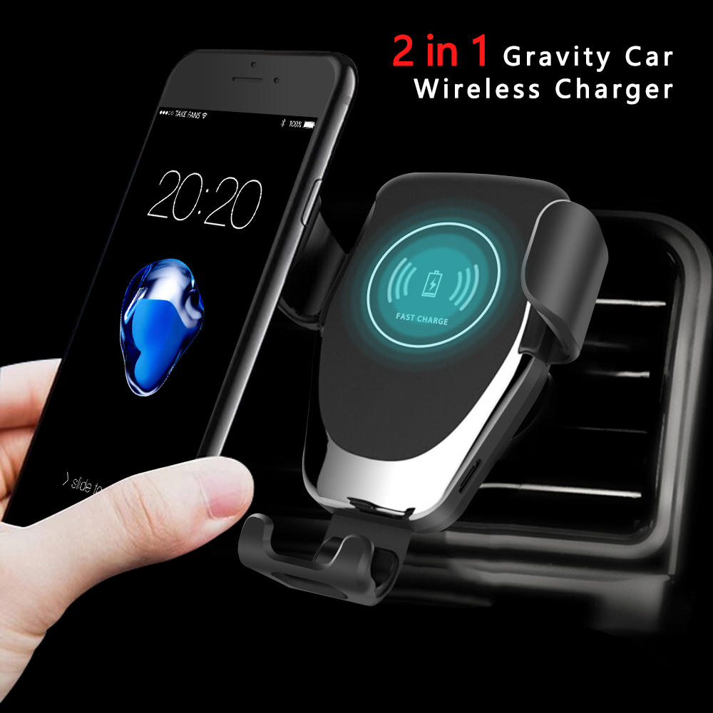 Gravity Car Wireless Charger For IPhone XS Max X XR 8 Plus Fast Charging Car Air Vent Phone Holder For Samsung S10 Plus Note 10