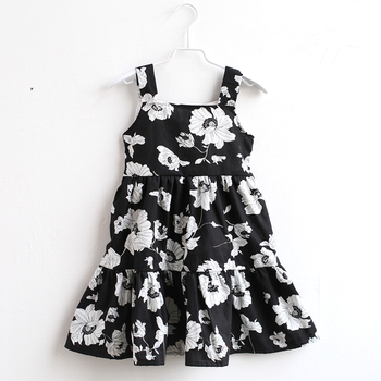 Summer special offer cotton children clothing baby flower girls vintage slip dress mother daughter matching kids casual sundress