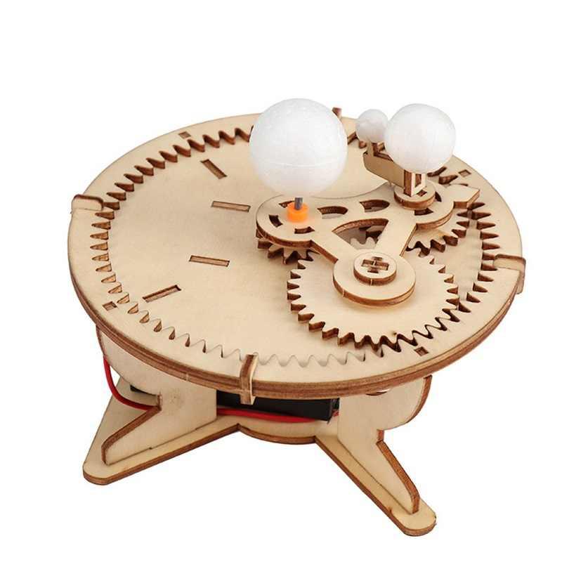 מונטסורי אסטרונומיה מתנות שמש כדור הארץ ירח כוכב שמש מערכת מודל DIY ילד מדע גאוגרפיה צעצועי גזע חינוך בית ספר מורה