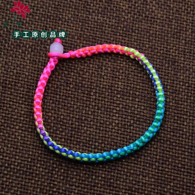 Новое поступление модные унисекс изделия двойной Слои строка ручной плетеная веревка Для мужчин Для женщин ремешок браслет B003-multi