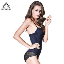 79150aaaebaea TOPMELON 2018 Body Shaper Sexy Push Up Slimming Lace Floral Shapers  Seamless Lingerie Women One Piece Bodysuit