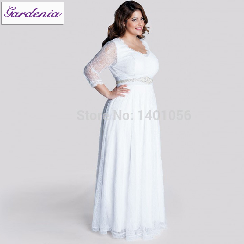 Robe de mariage casual beach wedding dress for big women for Wedding dresses for larger sizes