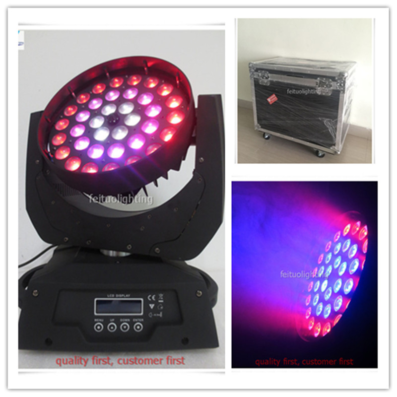 4 шт. с летным корпусом светодиодный светильник Moving Head Wash 360 Вт Zoom 4в1 36x10 Вт светодиодный движущаяся головка промывочный зум RGBW Llight