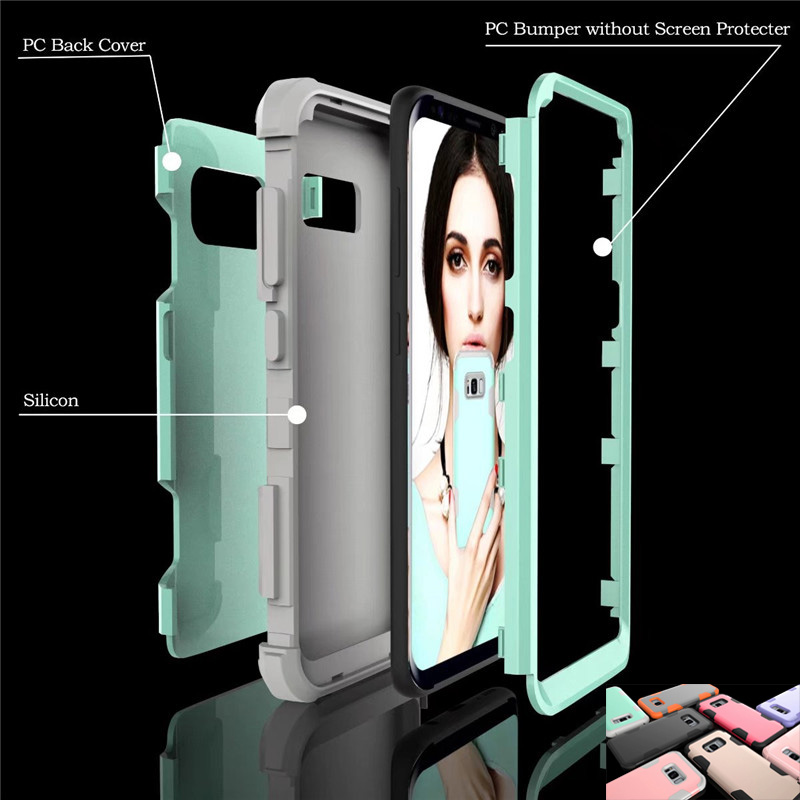 8 colors Business Case for Samsung Galaxy note 8 S8 Heavy Duty Armor Shockproof Stand phon Case Cover for Samsung S8 plus cover