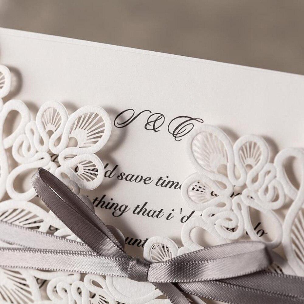 1pcs Sample White Laser Cut Wedding Invitations Elegant Wedding ...