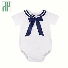 3ba60ab1c Importado ropa de bebé niños de manga corta bebé traje de marinero  mamelucos de bebé recién nacido de verano niños niñas mono de.