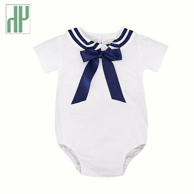 7784f17e2 Importado ropa de bebé niños de manga corta bebé traje de marinero  mamelucos de bebé recién