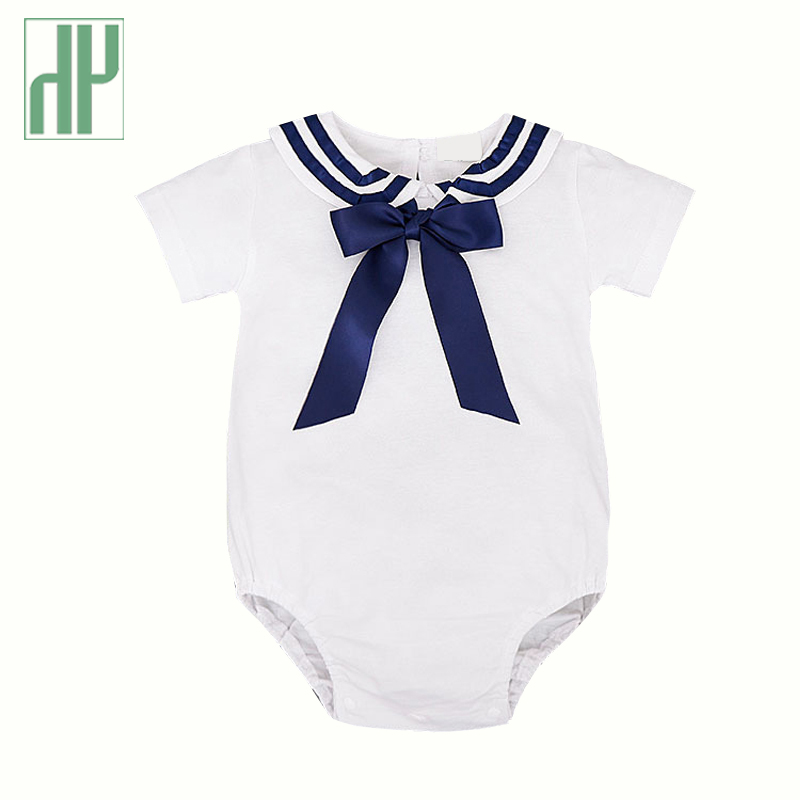 Imported Baby clothes short sleeve kids baby sailor suit baby   rompers   summer Newborn boys girls   rompers   jumpsuit toddler costume