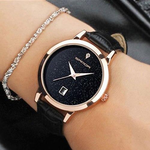 780b2475eb0 SANDA 2018 Moda Relógio De Pulso Das Mulheres Relógios Senhoras Relógios de Luxo  Famosa Marca de relógio de Quartzo Relógio Feminino Relogio feminino Montre  ...