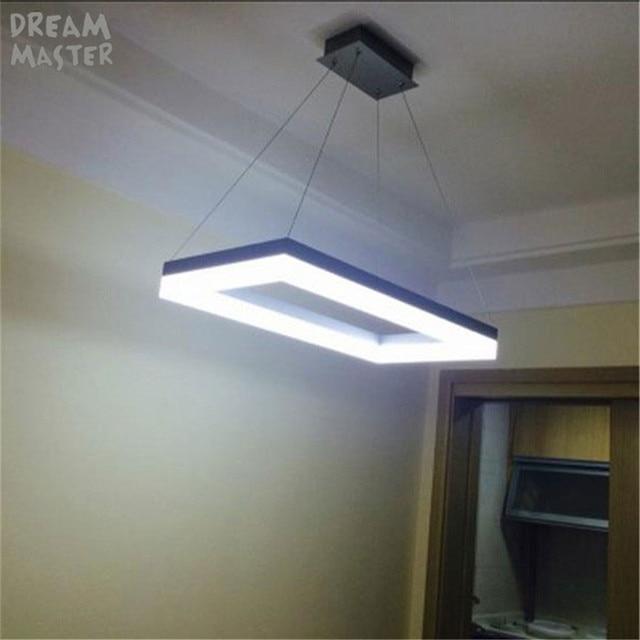 Moderne Rechteck Led Acryl Anhanger Lichter Moderne Hangende Lampe