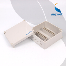170*160*70mm   IP66 ABS Waterproof  Terminal Box ABS Terminal Block Box within 20 Copper Terminals   DS-PG-20P