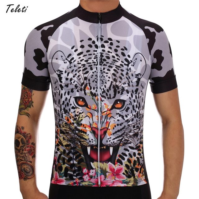 Teleyi Cheetah Short Sleeve Cycling Jersey Men 2017 MTB Bike Jersey Shirt  Breathable Road Bicycle Clothes Cycling Clothing Wear f9d8cce96