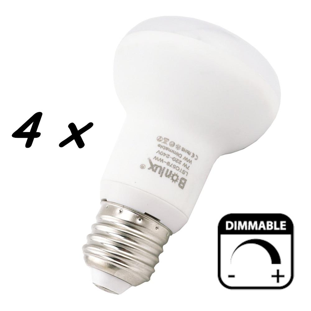 Dimmable 7W <font><b>E27</b></font> <font><b>LED</b></font> Reflector Lamp <font><b>LED</b></font> R63 Light Bulb 220V <font><b>Umbrella</b></font> Spot Light Lamp for Kitchen Living Room Home Lighting