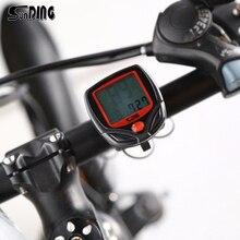 SunDing велосипедный компьютер с ЖК-цифровым дисплеем Водонепроницаемый одометр для велосипеда Спидометр Велоспорт секундомер езда аксессуары инструмент