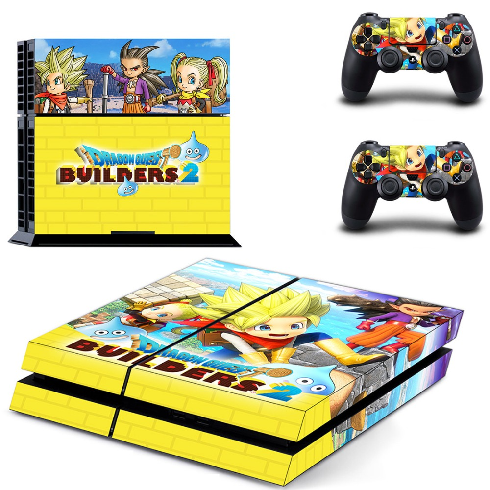 Game Dragon Quest Builders 2 PS4 Skin Sticker Decal for Sony PlayStation 4 Console and 2 Controller Skin PS4 Sticker Vinyl image