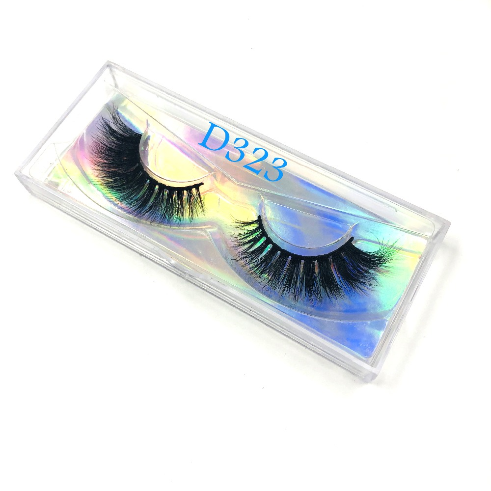 New Arrivals Mink Eyelashes 3d Long Lasting Lashes Natural Holographic Paper Mink Lashes Wholesale