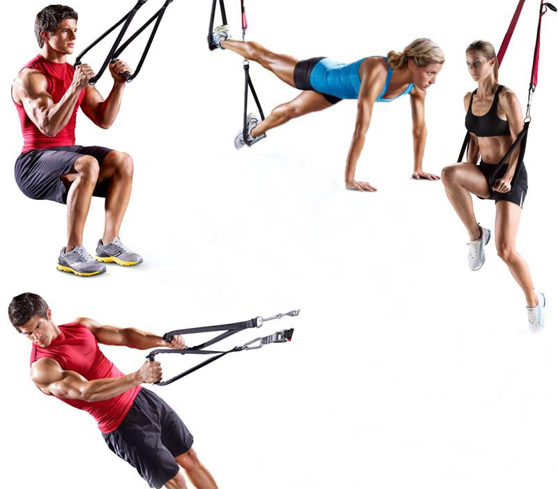 New Sports Exercise Training Fitness Weight Lifting Gym: New Strength Training Belt Hanging Strap Bands Suspension