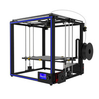 DIY Aluminum 3D Printer Kit 400*400*400mm Large Printer With Dual Z axis Rod HD LCD Screen Double Fan 3D Printer Kit