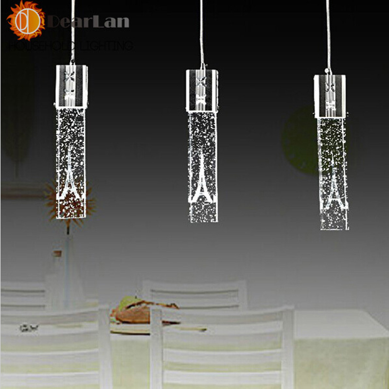 ФОТО Modern Eiffel tower Pendant Light Cylindrical Glass Vintage Pendant Lamp LED Modern Lamps And Lanterns Free Shipping