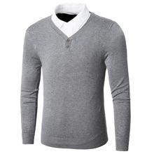 Oufisun Men Brand Autumn Business Casual Soft Cotton Pullove