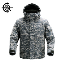 CQB Outdoor Two-piece Winter Jacket Men Hunting Clothes Windproof Waterproof Hiking Camping Thermal Ski Jacket CYF0663
