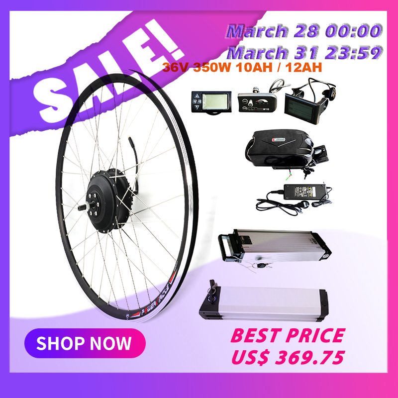 JS EBike 350W Conversion Kit With 36V Lithium Battery