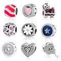 2017 dia dos namorados originais fit pandora encantos pulseira diy jóias 925 grânulos de prata esterlina cadeado/apple/coração/estrela encantos