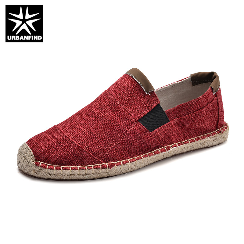 URBANFIND Mens Shoes Espadrilles Slip-On Chinese Male Breathable Casual Fashion Soft