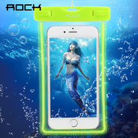 Rock Waterproof Bag Luminous Night Underwater Case For Samsung Galaxy S8 Case For Iphone 6 7