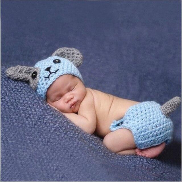 Recién Nacido traje perro Azul punto nueva ropa infantil algodón ...