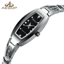 2018 Luxury Brand Ladies Watch Rectangular Tungsten steel Quartz Watch Women Fashion Dress Watch Relogio feminino Girl gifts(China)