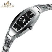 2018 Luxury Brand Ladies Watch Rectangular Tungsten steel Quartz Watch Women Fashion Dress Watch Relogio feminino Girl gifts