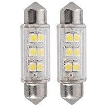 2 шт. супер светодиодный 39 мм SMD 6 светодиодное освещение фестонного типа для автомобиля купольный светильник белый 12 В 3 Вт купольный светильник Авто интерьерная лампа